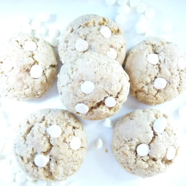 Sugar Free Oatmeal and White Chocolate Chip Cookies
